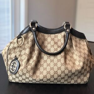 Authentic Gucci Medium Sukey Tote